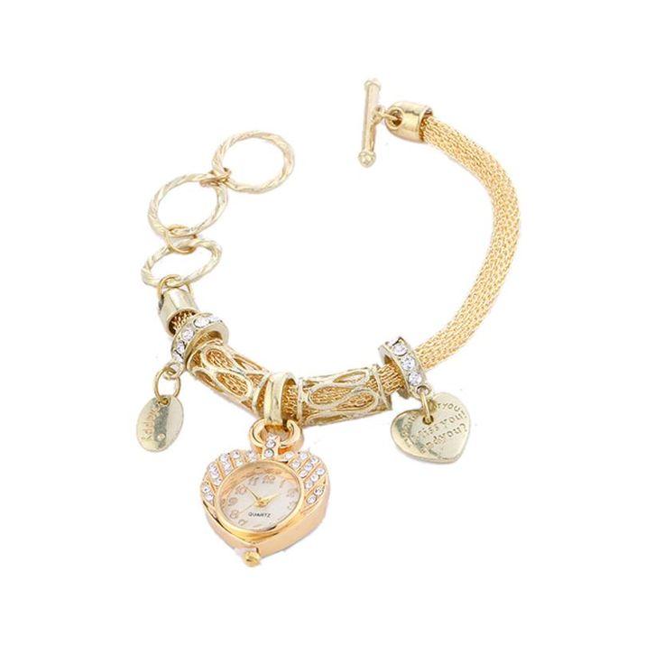 MALLOOM watches women fashion watch 2017 gold luxury Stainless Steel Quartz ladies Wrist Watch Zegarki damskie drop shipping #XG #Affiliate