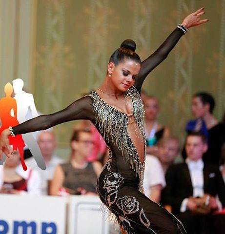 Pedro Eugenio & Carla Silva | Portugal Cup 2013 [elongating black mesh with silver beaded fringe and appliques]