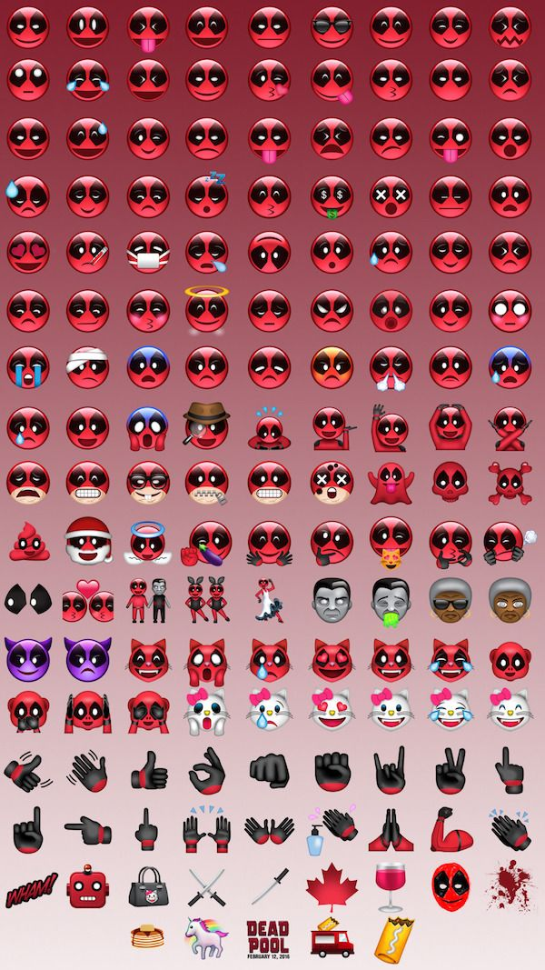 Download Deadpool Emoji Immediately | My Geeky Side | Marvel comics