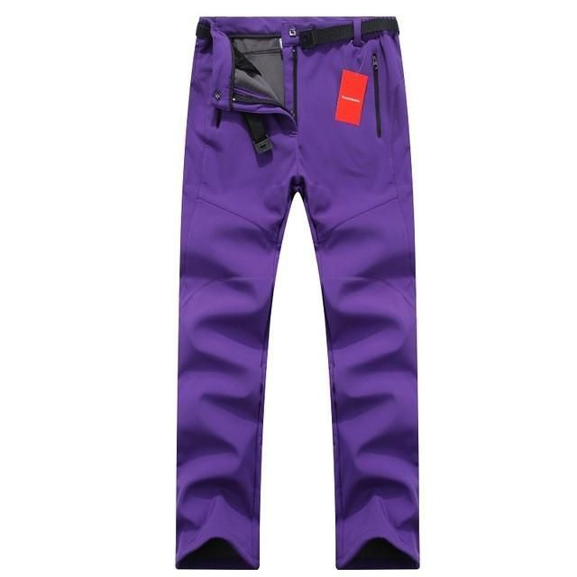 Women Thick Warm Fleece Softshell Pants