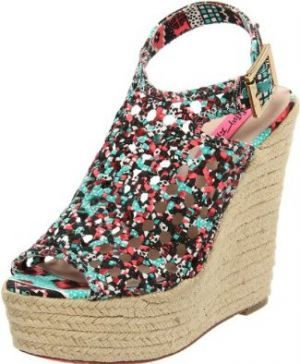 Wedge sandals - Betsey Johnson Womena??s Beckeyy Wedge Sandal