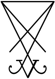 Theistic Satanism - Wikipedia, the free encyclopedia A sigil of Lucifer that was invented in 2004 by Joy of Satan, and then adopted as the main symbol of the Church of the Elders in 2007. It is based upon part of an earlier sigil from the Grimorium Verum.