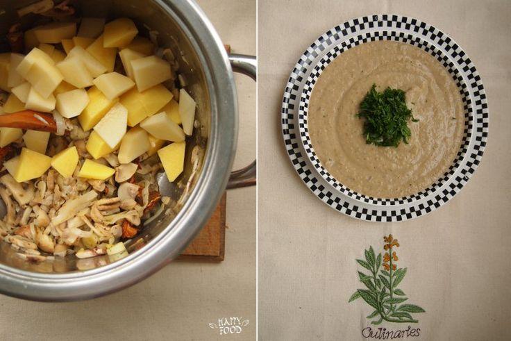 Грибной суп-пюре (пошагово)