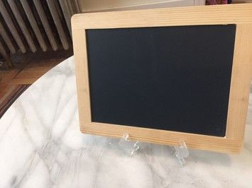 Small Chalkboard Signs Set Of 2 With Easels For Party Or Wedding. Small Chalkboard Signs Set Of 2 With Easels For Party Or Wedding on Tradesy Weddings (formerly Recycled Bride), the world's largest wedding marketplace. Price $20.00...Could You Get it For Less? Click Now to Find Out!