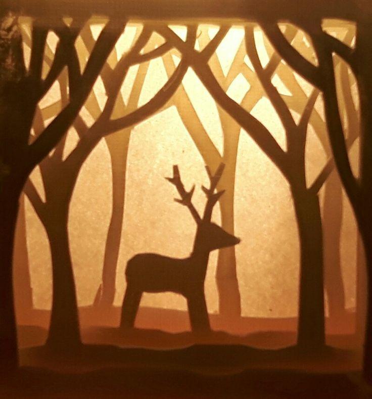 Hert in het Bos - Papercutting