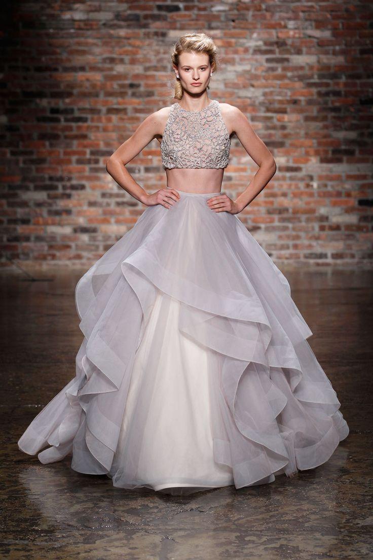 wedding gowns sundress wedding dress Crop top wedding dress by Hayley Paige Spring Bridal