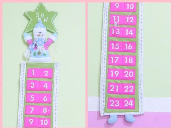 diy calendario para navidad yami