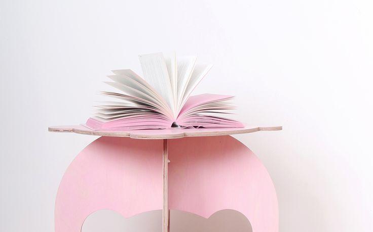 Sweet Pinkey table inspired by book Slečny - Misses made by fashion designer Anna Marešová I