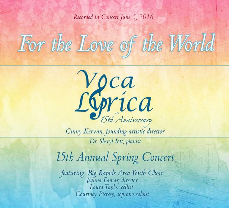 """For the Love of the World: Voca Lyrica (2016) 