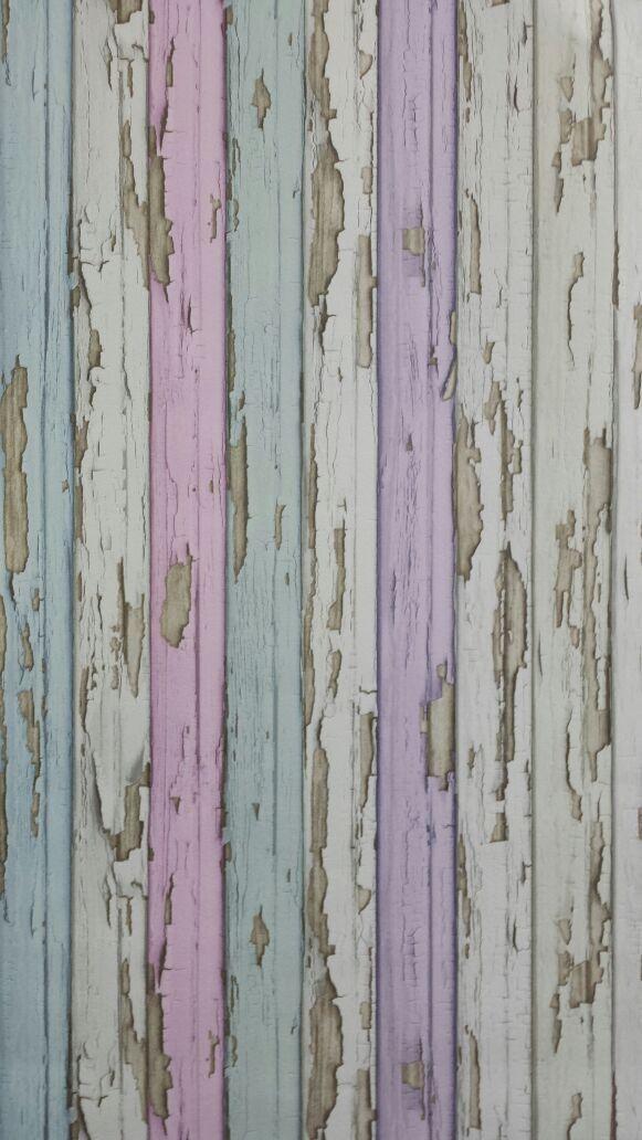 Steigerhout Vliesbehang Roze/Paars bij Behangwebshop