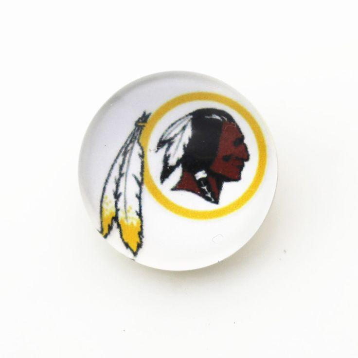 50pcs 18mm Washington Redskins USA Football Snap Buttons Charms Fit Snap Bracelet/Necklace DIY Jewelry