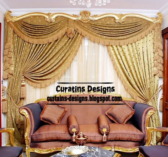 Luxury Drapes Curtain Design For Living Room Italy Models