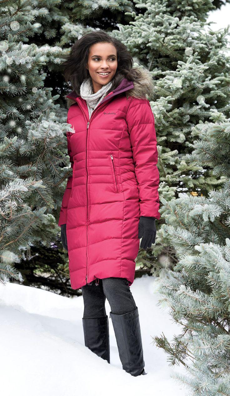 Columbia® 'Varaluck III' Long Down-Blend Winter Jacket