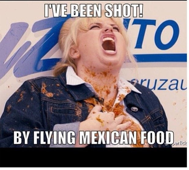 Really??? Flying mexican food??? What was it??? Burrito missile??? Or a taco???