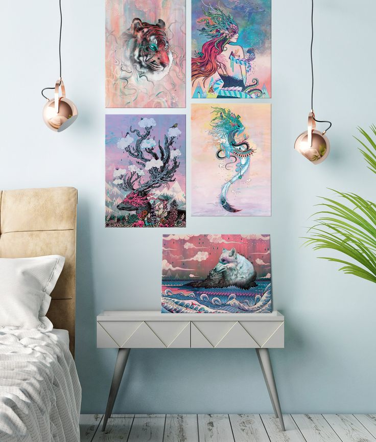 """""""Nature's Spirits"""" collection of metal posters by Mat Miller #animal"""