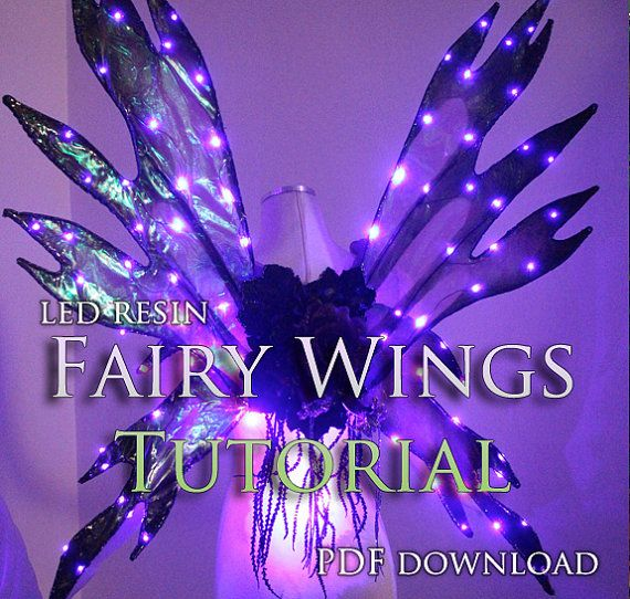 ****THIS IS NOT A PHYSICAL OBJECT YOU ARE BUYING!! WE DO NOT SEND A PATTERN OR FAIRY WINGS IN THE MAIL! YOU WILL RECEIVE A PDF TUTORIAL FILE THAT YOU PRINT OUT YOURSELF AND ASSEMBLE.***  This is a step-by-step tutorial on how to make your own LED Resin Fairy wings! Each step is photographed and there is and detailed list of the tools and materials you will need to create them. There are also links to online stores where you can buy each item you will need! This 15 page PDF tutorial can be…