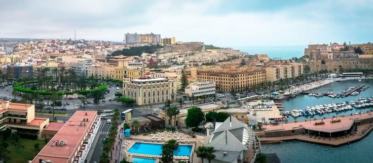 Sweeping view across Melilla from high vantage point | The Virtual Traveller | How to travel the world without leaving home | #virtualworldtrip