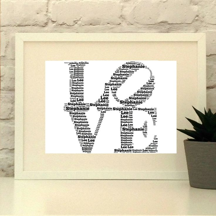 Made with ❤️ : LOVE Personalised Print. Perfect for Weddings, Anniversaries, Engagements or a little self gifting!  #weddinggift #weddingpresent #etsymcr #etsysc #pepperdoodles  https://www.etsy.com/listing/265474678
