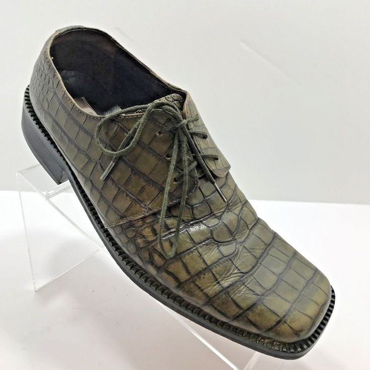 Fratelli Green Alligator Embossed Mens Oxford Shoes US Size 11 Mexico Size 9.6 | Clothing, Shoes & Accessories, Men's Shoes, Dress/Formal | eBay!