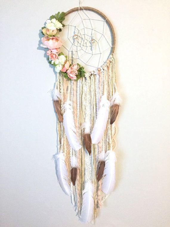 Dreamcatcher, Boho Dreamcatchers, Blume Dreamcatcher, moderne Wand hängen, Boho chic Traumfänger, Dreamcatcher Wand hängen, 3 Größen