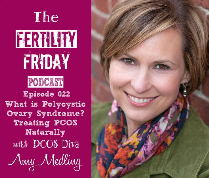 """On this week's Fertility Friday Podcast episode find out how to treat PCOS naturally with PCOS Diva Amy Medling! Amy breaks down what symptoms must be present for an """"official PCOS diagnosis"""" and what tests to ask your doctor for if you think you might have PCOS!"""