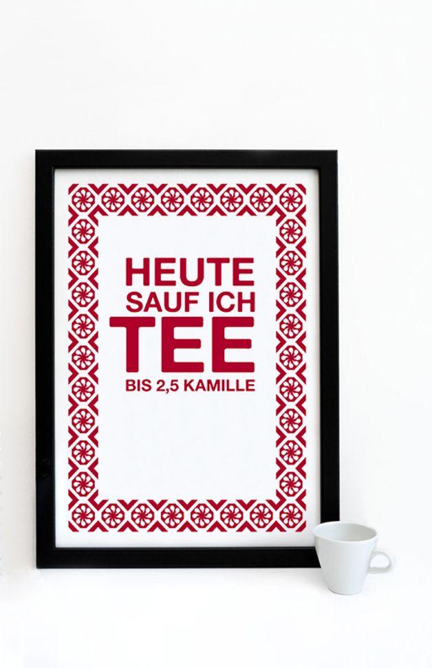 Digitaldruck   Druck *Tee 2.5 Kamille*   Ein Designerstück Von  Pap Seligkeiten Bei