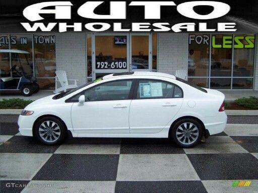 2009 White Honda Civic EX Sedan