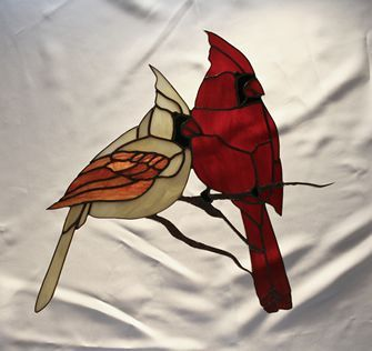 Stained Glass Patterns birds | Stained Glass Cardinals