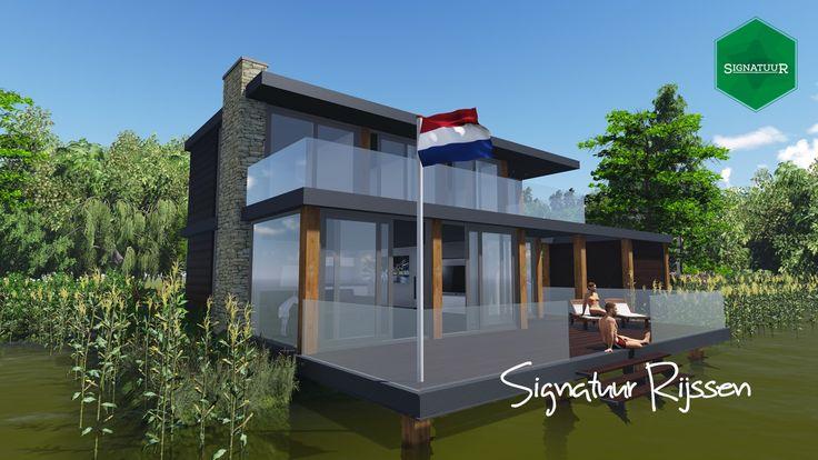 Impressie vrijstaande woning aan het water, www.signatuurrijssen.nl