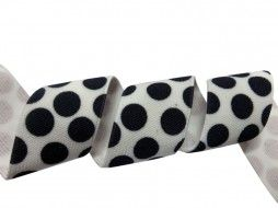 polka dot white and black