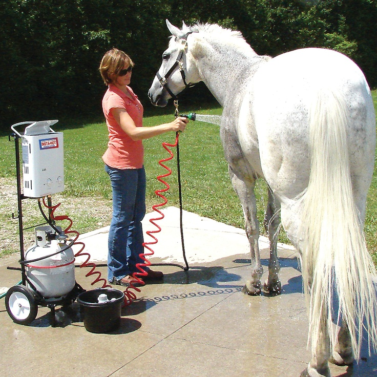Insta Hot® Equine Portable Washing System - 159.95 from Schneiders Tack (would like the cart they sell for it also, and would need a 20lb propane tank to make it run)
