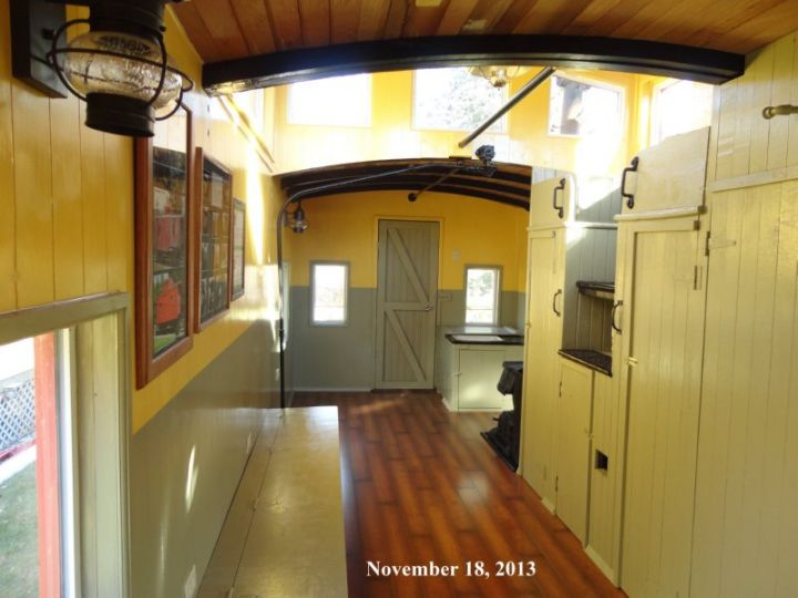 Caboose Interior 20 | camper ideas | Ceiling lights, Home decor