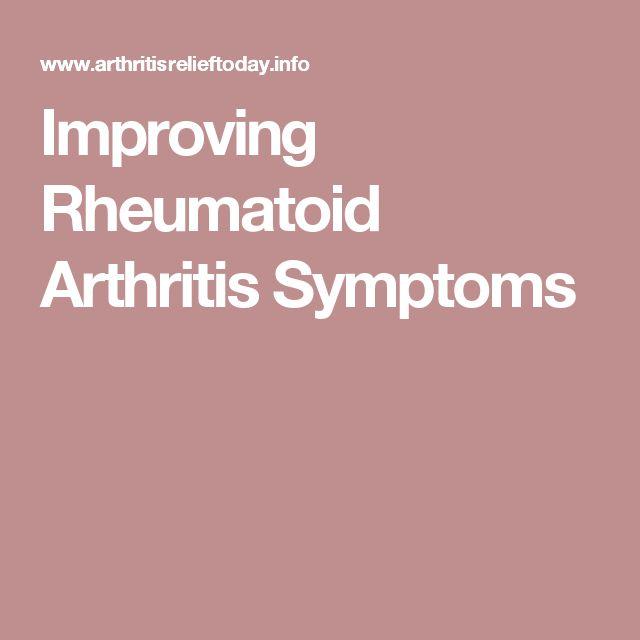 Improving Rheumatoid Arthritis Symptoms