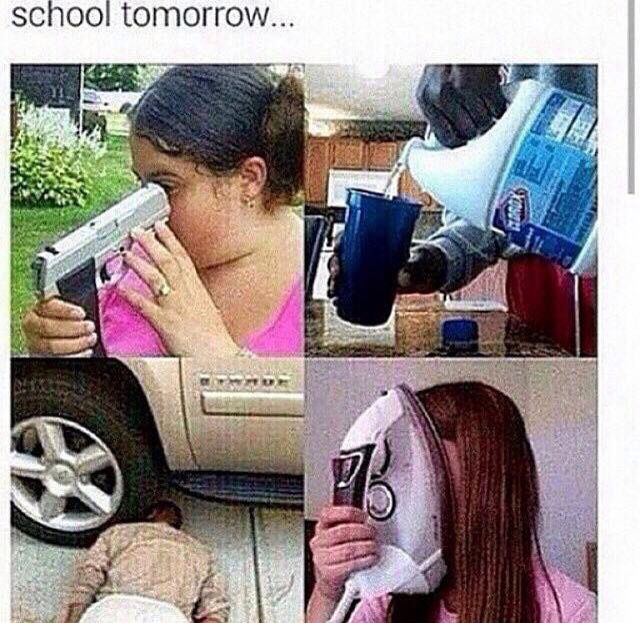 That'll be me when I go back to school...