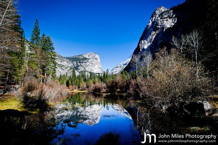 Mirror Lake, Yosemite.  By Devon Wedding Photographer John Miles.Photographers John, John Miles, Mirrors Lakes, Landscapes Photography