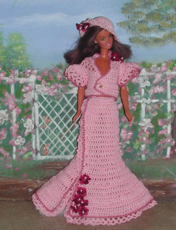 Crochet Fashion Doll Barbie Pattern- #399 STEPPING HIGH #2