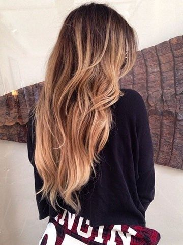 Khloe Kardashian: Blonde ombre Perfect color and waves!!