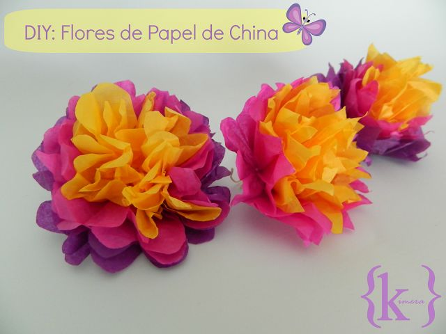 flores de papel de china, tutorial, diy, flower paper tisue