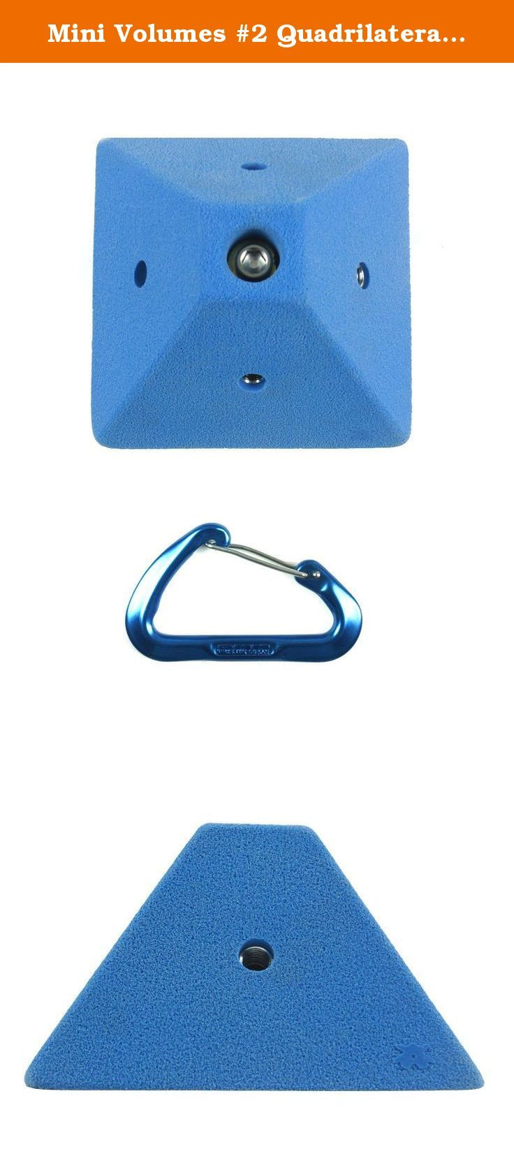 "Mini Volumes #2 Quadrilateral | Climbing Holds | Blue. Mini Volumes #2 Quadrilateral Dimensions: 5-1/4"" x 5-1/4"" x 5-1/4"" Stands off wall: 3-1/4"" T-nuts installed: 4 round base brad hole t-nuts Attachment method : 3/8-16 Allan head bolt."