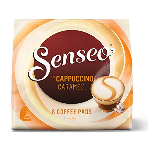Senseo Coffee Pods Cappuccino Caramel, New Recipe, 8 Pods -- Click image to read more details. #GroundCoffee