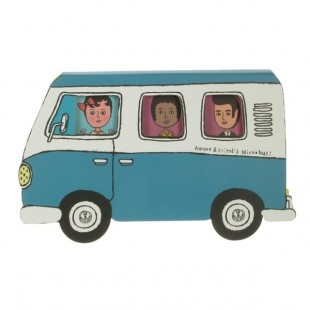 Blue Microbus Sticky Notes