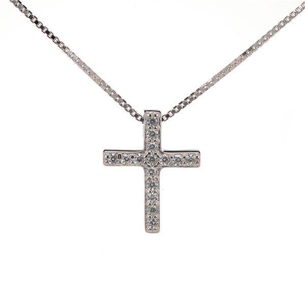 Κολιέ  σταυρός ασήμι 925   4596