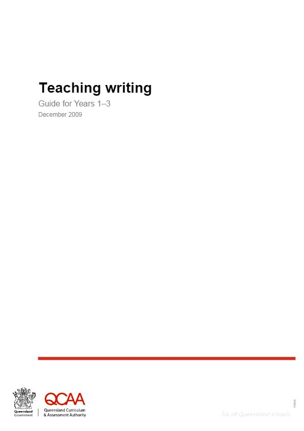 Teaching writing: Guide for Years 1–3