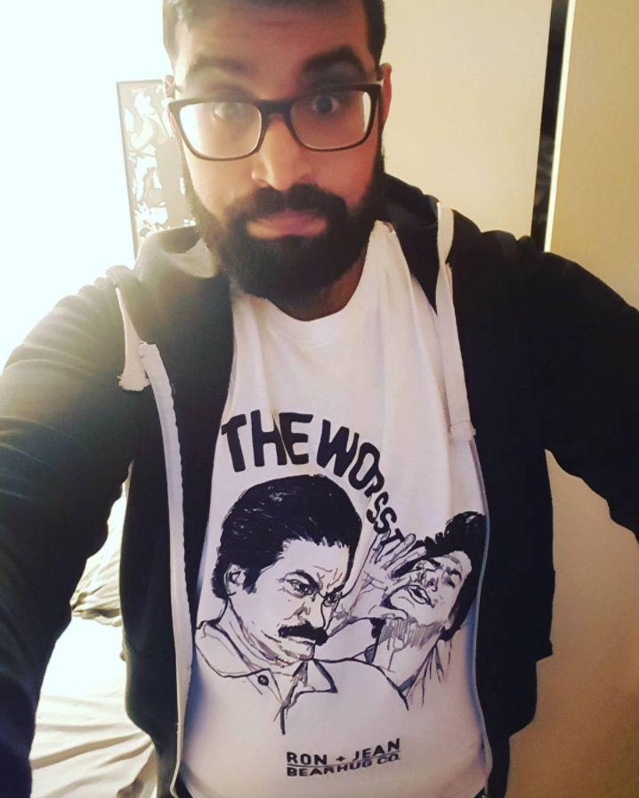 Bearhugger - the worst #parksandrecreation #parksandrec #ronswanson #thebearhugco #lukedixon #illustration #tshirt