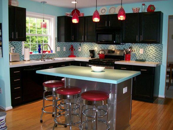 Kitchen Ideas Dark Wood Cabinets kitchen black cabinets - pueblosinfronteras