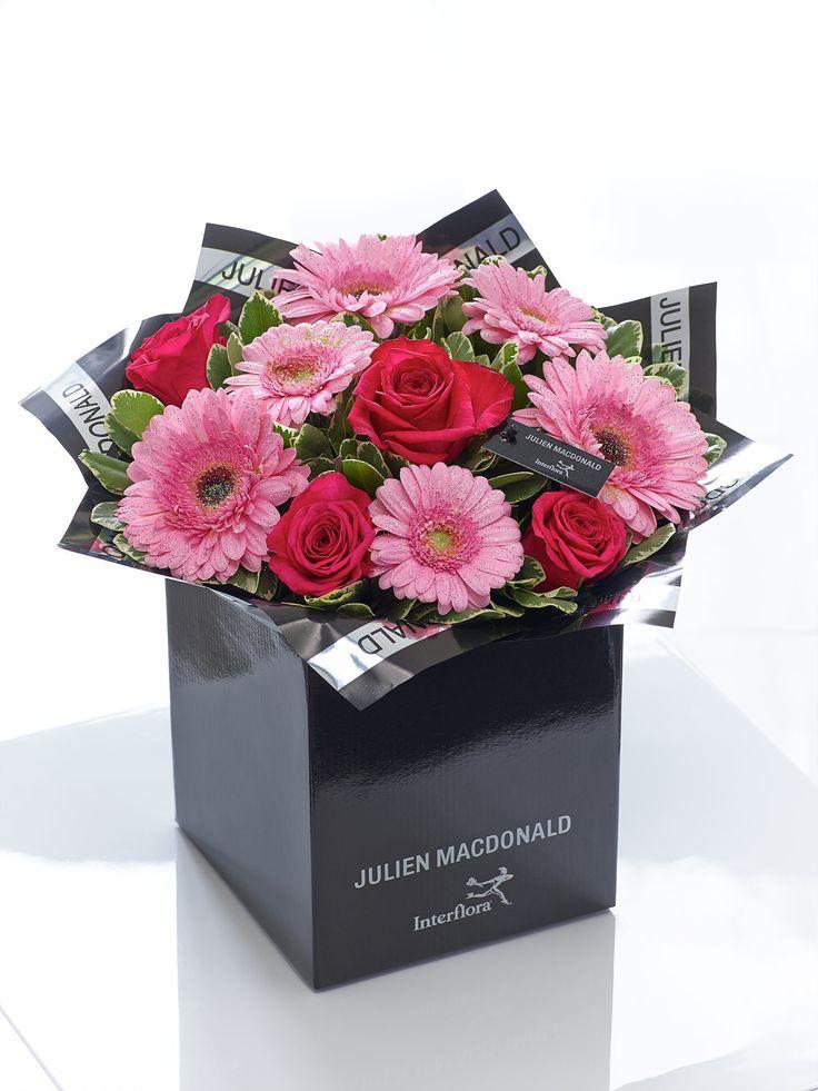 Julien Macdonald Glittering Gerbera, Germini and Rose Hand-tied - Interflora