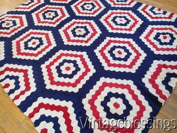quilts quilt civil red and war white blue