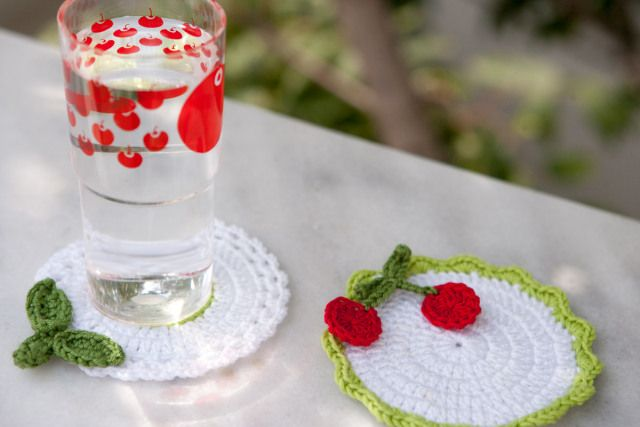 Crochet coasters, at THEIA Lab.