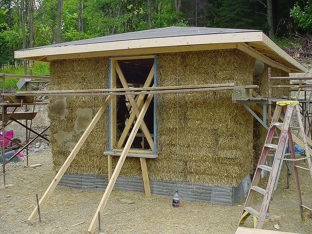 27 best house inspiration images on pinterest for Straw bale garage plans