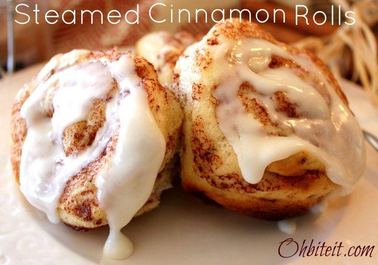 ~Steamed Cinnamon Rolls!